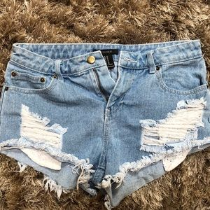 Forever 21 high waisted shorts sz 27